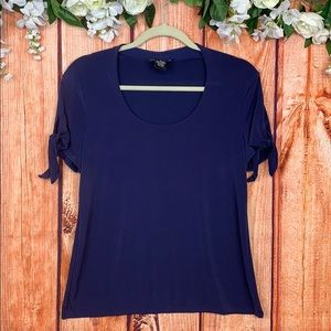 Grace Elements Tie Detail Top | Royal Purple